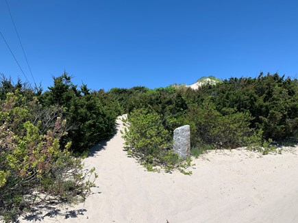 East Sandwich Cape Cod vacation rental - Private pathway to Association beach.