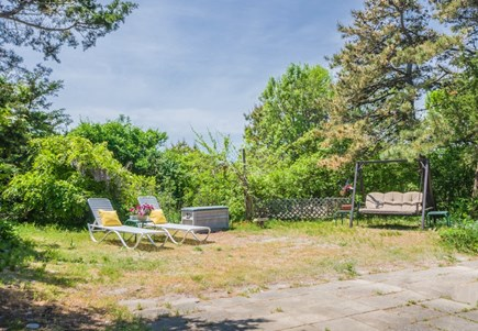 East Sandwich Cape Cod vacation rental - Private back yard with seating.