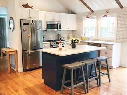 Chatham Cape Cod vacation rental - Newly updated kitchen (there's beverage fridge in the island!)