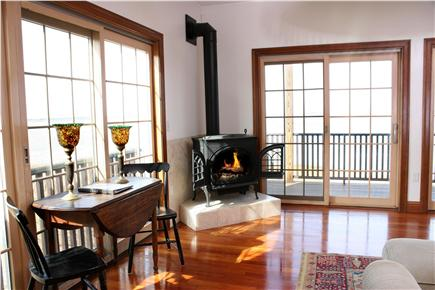 Barnstable Cape Cod vacation rental - 3 heavenly gas fireplace stoves.