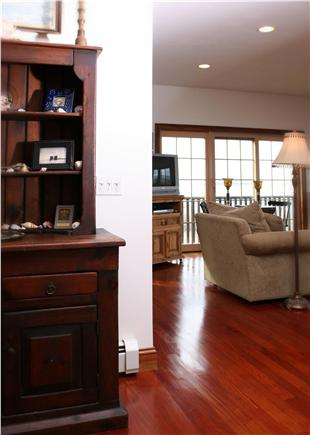 Barnstable Cape Cod vacation rental - Mahogany floors and cozy furniture.