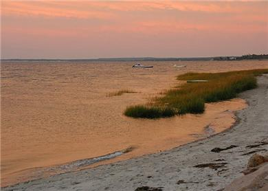 Barnstable Cape Cod vacation rental - Our beach at sunset