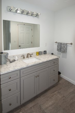 Truro Cape Cod vacation rental - Large full bath w/custom vanity/quartz counter top