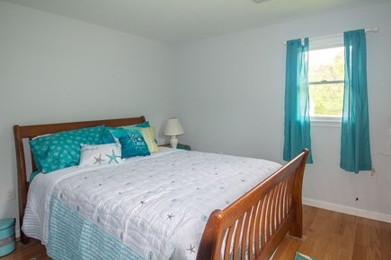 Truro Cape Cod vacation rental - Bedroom 2 Queen size bed.  The room is decorated in a beach theme