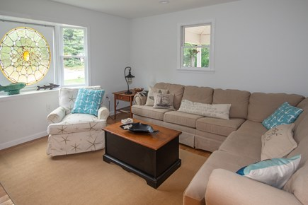 Truro Cape Cod vacation rental - Living room has lots of comfy seating.