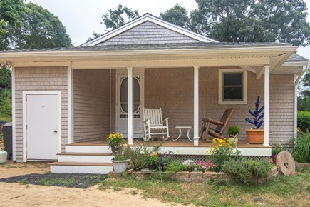 Truro Cape Cod vacation rental - Cute farmer's porch w/rocking chairs for relaxing! Also a deck!