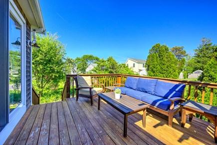 Sandwich Cape Cod vacation rental - Deck steps down to back yard.