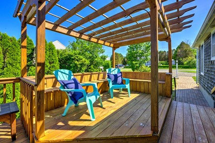 Sandwich Cape Cod vacation rental - Shaded area on deck.