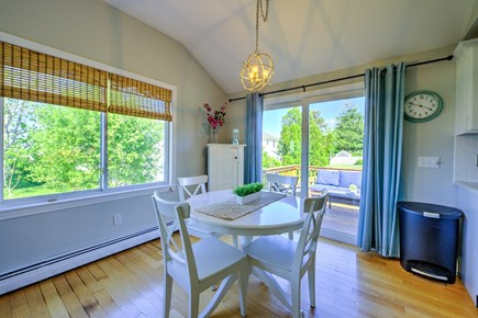 Sandwich Cape Cod vacation rental - Dining area with slider to deck.