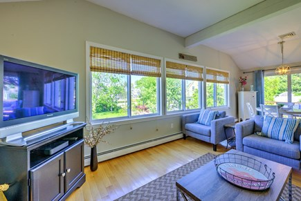 Sandwich Cape Cod vacation rental - Living Room is adjacent to Dining area.