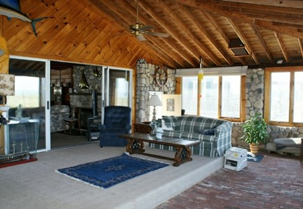 Sandwich, Sagamore Beach Cape Cod vacation rental - Enclosed porch on the ocean side with waterviews.