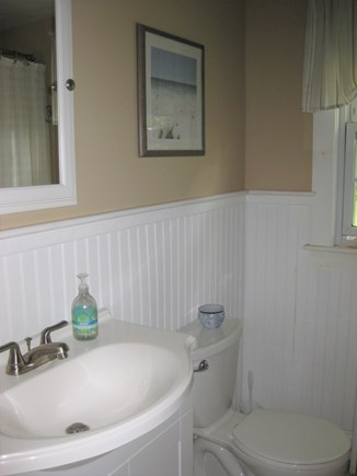 Bourne, Gray Gables Cape Cod vacation rental - Full bath with tiled shower/bath combination