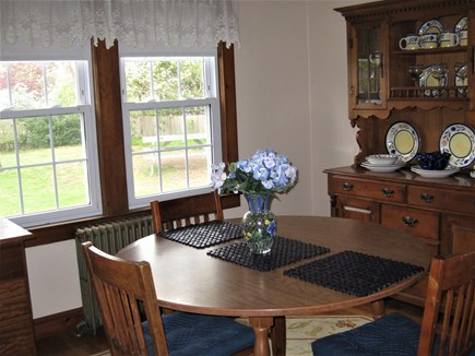 Bourne, Gray Gables Cape Cod vacation rental - Dining room faces private back yard
