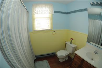 East Sandwich Beach.  Just off Cape Cod vacation rental - One of two identical full baths on the second floor.