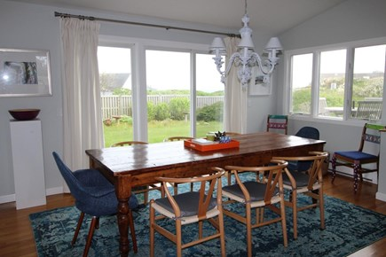 Truro Cape Cod vacation rental - Dining area opens to deck, grille, plenty of seating