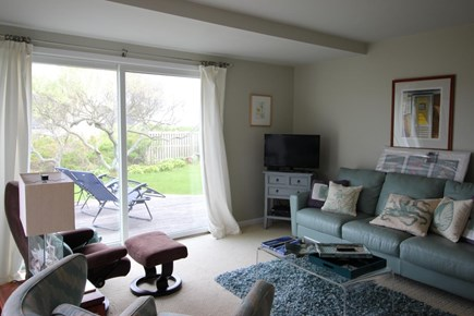 Truro Cape Cod vacation rental - Library/den opens to another deck