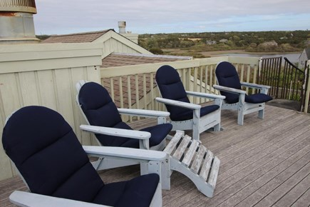 Truro Cape Cod vacation rental - Rooftop deck seating