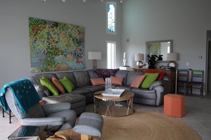 Truro Cape Cod vacation rental - Living room with comfy furniture