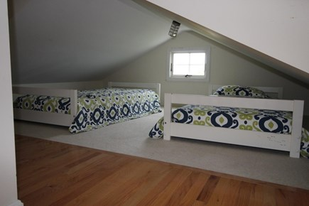 Truro Cape Cod vacation rental - Fourth bedroom/loft with 2 double beds