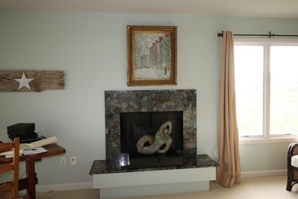 Truro Cape Cod vacation rental - Master fireplace