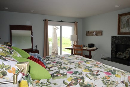 Truro Cape Cod vacation rental - Master Bedroom Suite opens to deck; king bed, large bath with seu