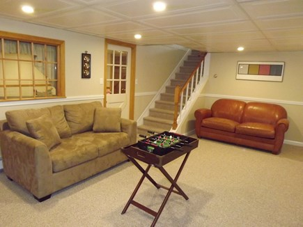 Chatham Cape Cod vacation rental - Lower level TV and ping pong table