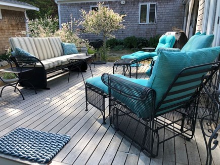 Eastham Cape Cod vacation rental - or here on the deck with comfortable sofas