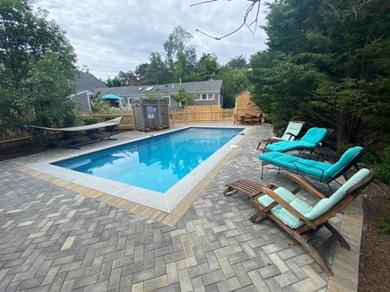 Eastham Cape Cod vacation rental - Hang out at the heated salt-water  pool with herringbone pavers