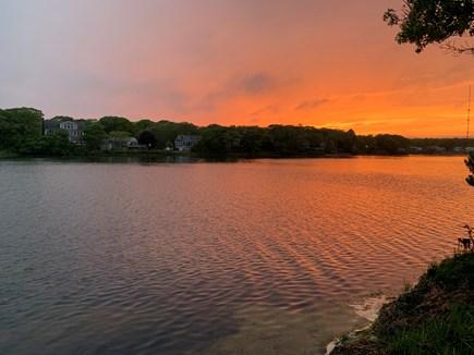 Falmouth, Maravista Cape Cod vacation rental - Sunset on Little Pond
