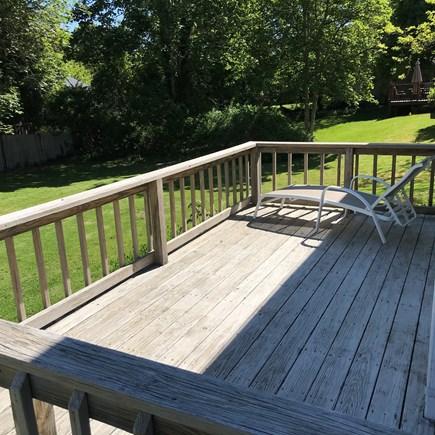 Centerville South of 28 Centerville vacation rental - Rear Deck