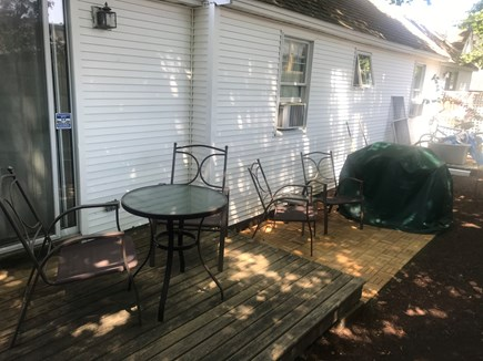 Harwich Port Cape Cod vacation rental - Two tiered outdoor space with grill