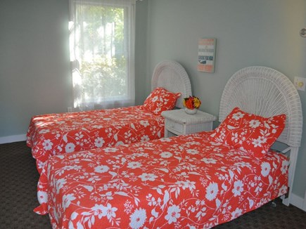 Eastham Cape Cod vacation rental - Bedroom 3- Two twins with access to back deck and yard