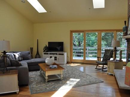 Eastham Cape Cod vacation rental - Open Living Room with huge patio door to front deck
