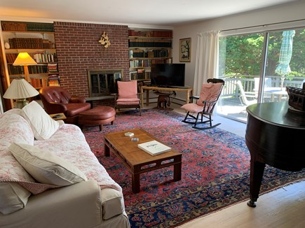 East Orleans Cape Cod vacation rental - Living room with sliders to the deck, enjoy the water view
