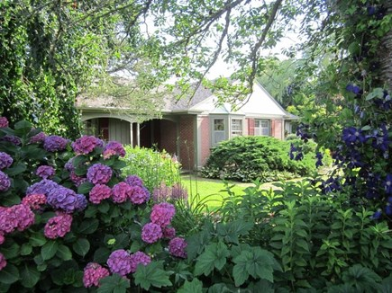 East Orleans Cape Cod vacation rental - View of house with surrounding gardens from street