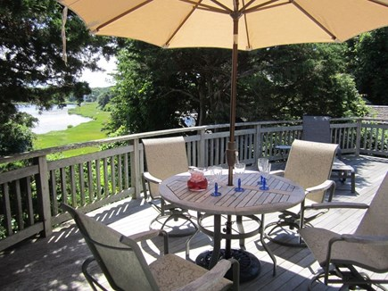 East Orleans Cape Cod vacation rental - Relax on deck with water view of Pochet Cove, Little Pleasant Bay