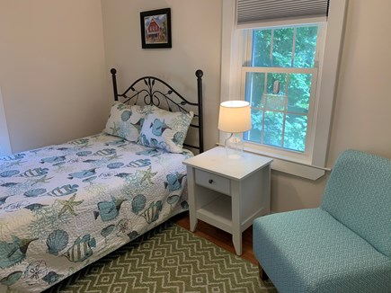 Centerville Centerville vacation rental - Upstairs bedroom with high ceilings and a ceiling fan.