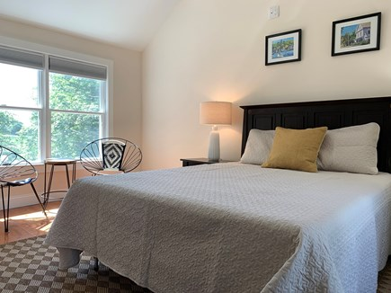 Centerville Centerville vacation rental - Upstairs queen size bedroom with seating area and TV.