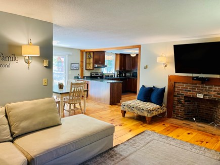 """Brewster Cape Cod vacation rental - Living room with 55"""" SMART TV"""