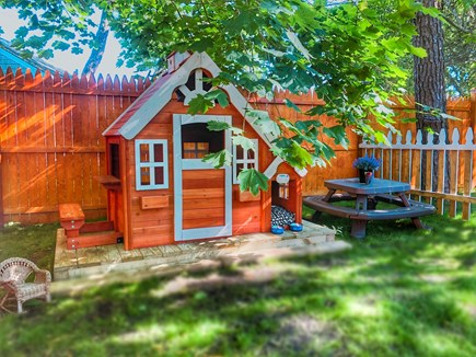 Dennisport Cape Cod vacation rental - Playhouse with kid's picnic table