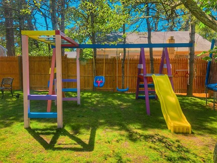 Dennisport Cape Cod vacation rental - Private playground in backyard