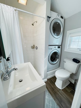 Dennisport Cape Cod vacation rental - Bathroom/Washer & Dryer