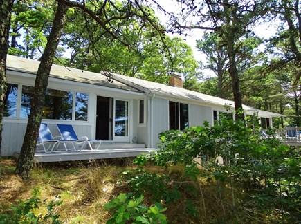 Wellfleet Cape Cod vacation rental - Showing both decks facing Gull Pond