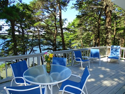 Wellfleet Cape Cod vacation rental - Large deck overlooking Gull Pond