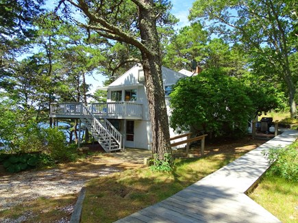 Wellfleet Cape Cod vacation rental - Nestled in the woods & by the water, two entrances to main level