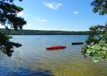 Wellfleet Cape Cod vacation rental - Walk down steps to swimming and kayaking, dock area