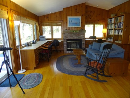 Wellfleet Cape Cod vacation rental - Sitting room/study adjacent to master, slider to private deck