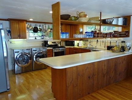 Wellfleet Cape Cod vacation rental - Spacious kitchen with breakfast bar