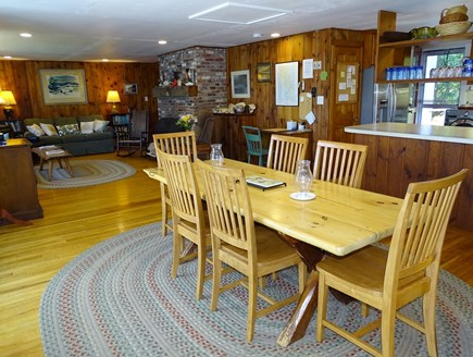 Wellfleet Cape Cod vacation rental - Open living space w/ dining, living and kitchen, all facing water
