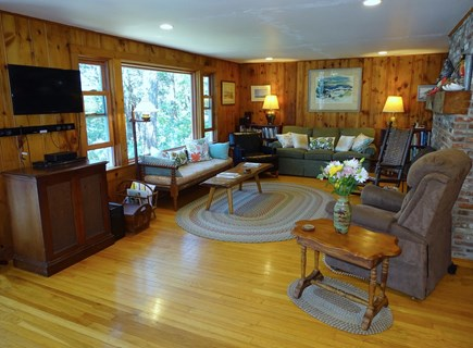 Wellfleet Cape Cod vacation rental - Large living area with water views